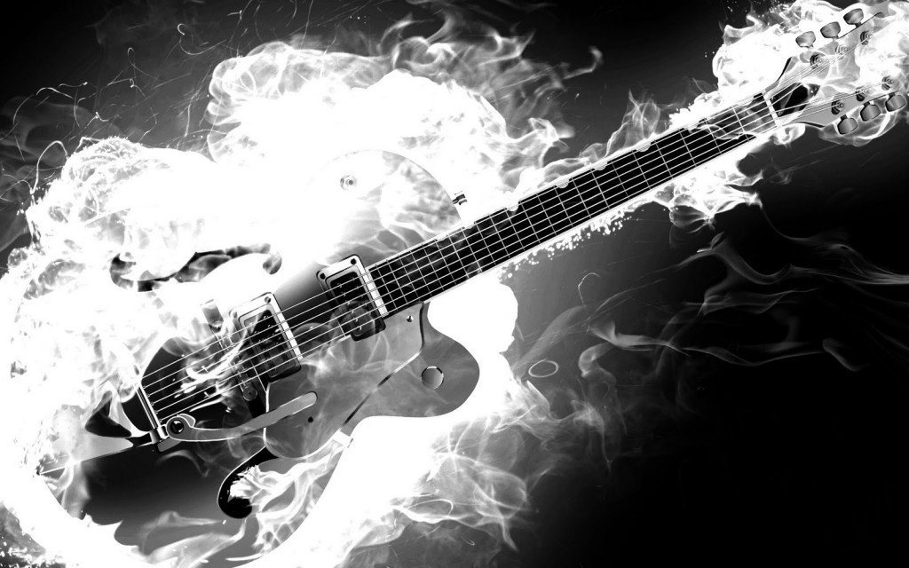 Electric-Rockabilly-Guitar-on-Fire-Monochrome-Black-and-White-Smoke-Flames-HD-Music-Desktop-Wallpaper-1920x1200-Great-Guitar-Sound-www.GreatGuitarSound.jpg